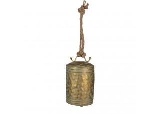 Zlatý kovový závěsný zvonek - Ø 12*17 cm