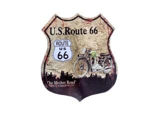 Nástěnná kovová cedule U.S. Route 66 Mother Road - 35*30 cm