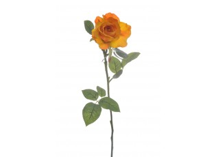 Dekorace umělá oranžová růže Alice - 9*7*71 cm