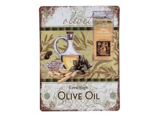 Nástěnná kovová cedule Olive Oil- 25*33 cm