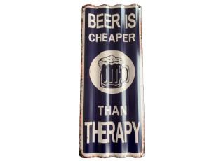 Nástěnná kovová cedule Therapy - 59*24 cm