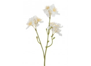 Dekorační umělá větvička s krémovými květy Blossom - 25 cm
