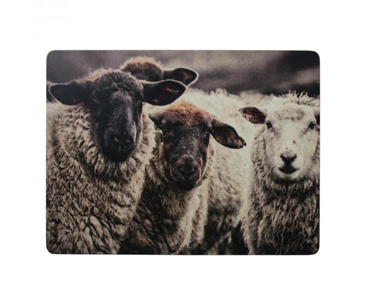 4 ks pevné korkové prostírání Horské ovce - 30*40*0,4cm