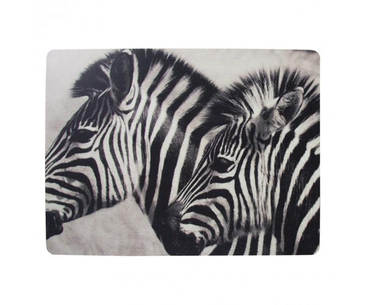 4ks pevné korkové prostírání Zebras - 30*40*0,4cm