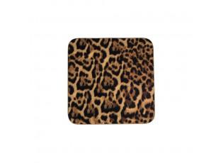 6 ks pevné korkové podtácky Leopard - 10*10*0,4cm