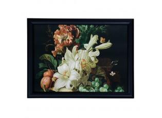 Podnos na nohy s květy a ovocem Liliana - 43*33*7cm