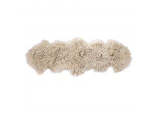 Béžová dekorativní kožešina z ovčího rouna - 60*160*2cm