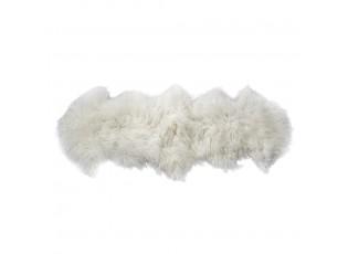 Bílá dekorativní kožešina z ovčího rouna - 60*160*2cm
