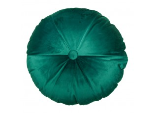 Petrolejově barevný kulatý sametový polštář Felis - 40*40*10cm