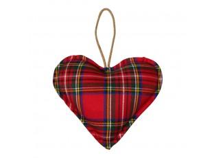 Závěsné dekorativní srdce Tartan M - 16*16*5cm
