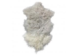 Šedo bílá dekorativní kožešina Ombré z ovčího rouna - 60*100*2cm