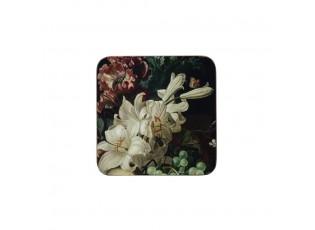 6ks pevné korkové podtácky s květy a ovocem Liliana - 10*10*0,4cm