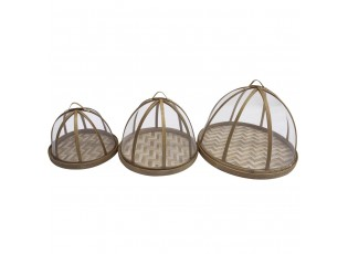 Set 3ks bambusový poklopů na potravin se dnem Tasanee