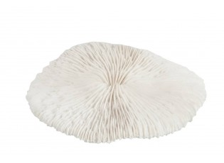 Bílý dekorativní umělý mořský korál - 15,5*14*3 cm