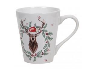 Vánoční hrneček s jelenem - Ø 9*10 cm / 300 ml