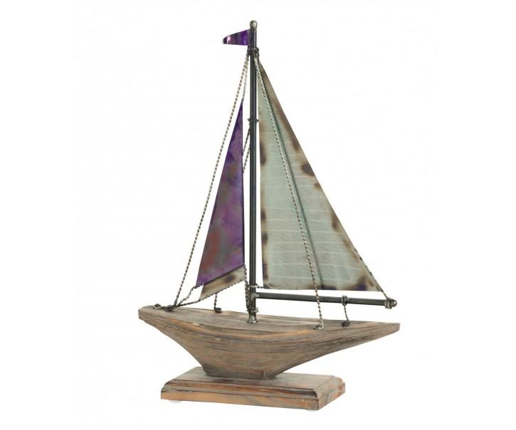 Dřevěná dekorační loďka na noze Boat - 33*10,1*46,5 cm