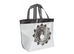 Bílo - černá plastová taška J-line - 58*40*18cm