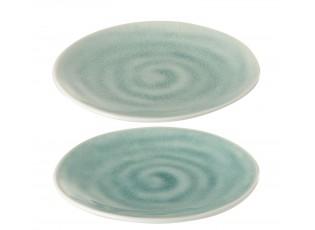 Sada 2ks tyrkysový malý talířek Apero - Ø 15*2 cm