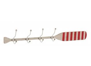 Dřevěný nástěnný věšák s patinou ve tvaru pádla Paddle - 118*14*17 cm