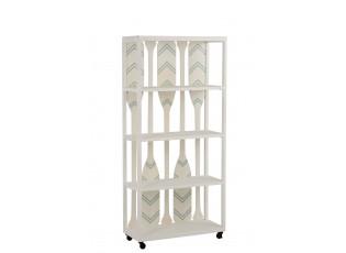 Bílý dřevěný policový regál s pádly Paddles - 80*35*172 cm