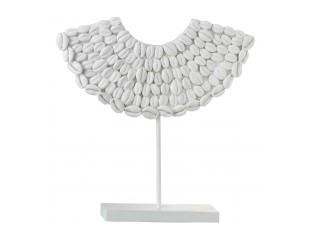 Bílá dekorace mušle na noze - 34*10*34 cm