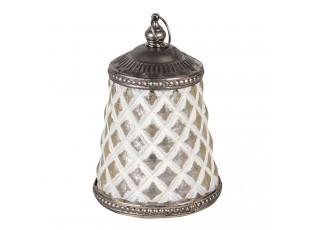 Bílá LED lampička ve tvaru čajové konvice - Ø 8*13 cm