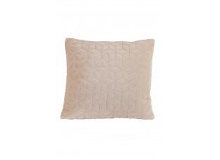 Béžovo růžový sametový čtvercový polštář Daloa - 50*50 cm