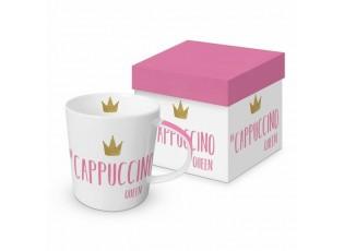 Porcelánový hrnek v krabičce Cappuccino Queen - 300ml