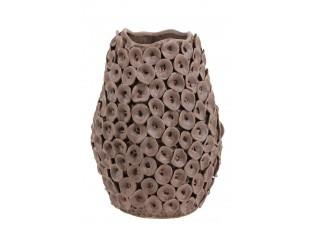 Hnědá váza Deco Mosa - Ø 26,5*35 cm