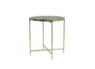 Zlato hnědý kovový stolek Girardot - Ø 41*42 cm