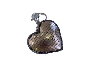 Klíčenka s přívěskem zlatého srdce