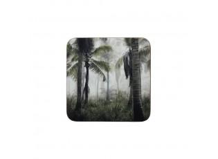 6k pevné korkové podtácky s palmami  Jungle in Fog - 30*40*0,4cm
