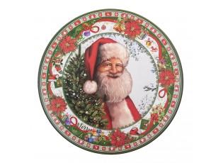 Dekorační plstový talíř se Santou - Ø 33*1 cm