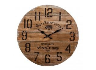 Hnědé nástěnné hodiny Vins Fins - Ø 34*1 cm / 1*AA