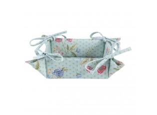 Textilní košík na pečivo Bloom Like Wildflowers - 35*35*8 cm