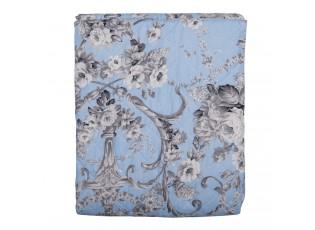 Modrý vintage přehoz přes postel S - 140*220 cm