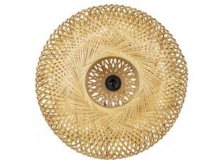 Přírodní kulatá nástěnná lampa z bambusových proužků - Ø 50*15cm