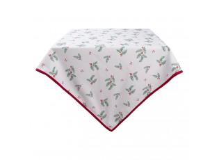 Čtvercový bavlněný ubrus Holly Christmas - 100*100 cm