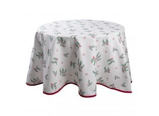 Kulatý stolní ubrus Holly Christmas - Ø 170 cm