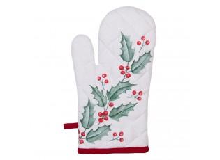 Kuchyňská bavlněná chňapka Holly Christmas - 18*30 cm