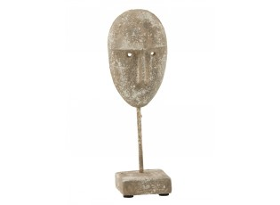 Dekorativní socha masky obličeje Muha - 9,5*7,5*27,5 cm
