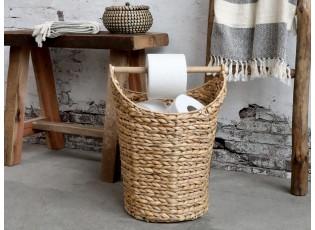 Přírodní košík na toaletní papír z vodního hyacintu - Ø30*40 cm