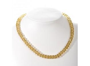 Průhledný žlutý korálkový náhrdelník Yellow