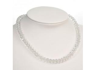 Průhledný korálkový náhrdelník White Crystal