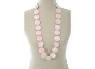 Růžový náhrdelník Pink Shell