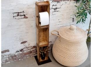 Dřevěný stojan na toaletní papír - 15*95*10 cm
