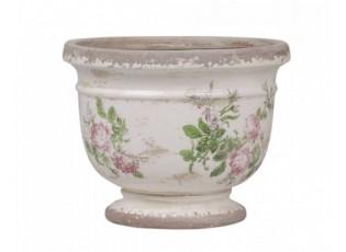 Keramický květináč s růžičkami Toulouse - Ø12*9cm