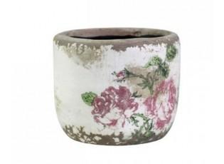 Keramický květináč s růžičkami Toulouse - Ø8*7cm
