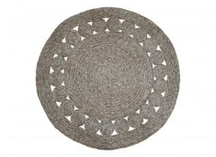 Přírodní kulatý koberec z mořské trávy - Ø120 cm