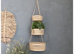 Závěsné přírodní košíky z mořské trávy - Ø32*115 cm